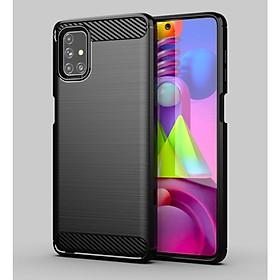 Ốp lưng chống sốc Vân Sợi Carbon cho Samsung Galaxy M51
