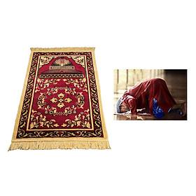 Muslim Prayer Rug Eid Embroidery Tapestry Carpet Non-Slip Mat