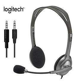Tai nghe âm thanh nổi chơi game văn phòng H110 của Logitech với Micrô 3,5 mm Nhạc có dây Gọi cho Máy tính xách tay để bàn