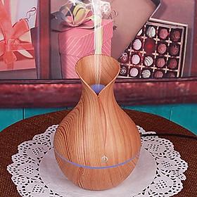 Máy xông tinh dầu vân gỗ Hình lọ hoa