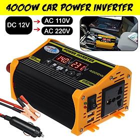 Bộ Chuyển Đổi Nguồn Điện 4000w Dc 12v Sang Ac 100v / 220v