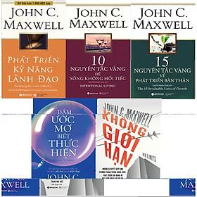 Trọn Bộ Phát Triển Bản Thân Của John Maxwell ( Phát Triển Kỹ Năng Lãnh Đạo + 10 Nguyên Tắc Vàng Để Sống Không Hối Tiếc + 15 Nguyên Tắc Vàng Về Phát Triển Bản Thân + Dám Ước Mơ, Biết Thực Hiện + Không Giới Hạn ) (Tặng Kèm Tickbook)