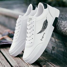 Giày Nam Thể Thao Sneaker Vải Dệt Cực Chất Đế Cao Su Nguyên Khối Siêu Êm Họa Tiết Lông Vũ CTS-GN026-2