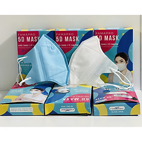 Khẩu Trang Y Tế Famapro 5D Mask - Người Lớn - Chính hãng hộp 10 cái