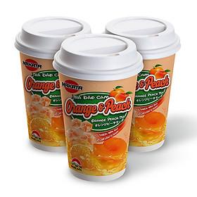 Lốc 3 Ly Trà Đào Cam Có Thạch Hiệu Nakata Peach & Orange