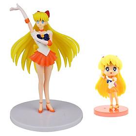 Bộ 02 mô hình thủy thủ mặt trăng - Sailor Venus (Vàng)