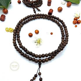 Vòng chuỗi hạt đeo tay gỗ trầm hương 108 hạt 6 li
