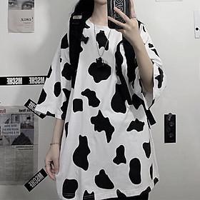 Áo Hoodie Bò Sữa Đáng Yêu, Áo Hoodie Nỉ Form Rộng Tay Bồng, Áo nỉ nữ Có Mũ