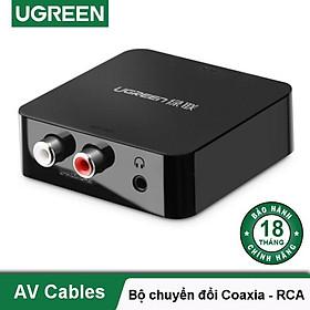 Bộ chuyển đổi âm thanh từ quang, Coaxial sang AV Chính HãngUGREEN 30910 - Hàng chính hãng
