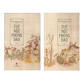 Combo Tục Ngữ Phong Dao (Bộ 2 Tập/ Kho Vàng Chung Của Nhân Loại - Tặng Kèm Bookmark Happy Life)