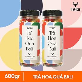 Bộ 2 Hộp trà hoa quả Bali TORO - Hũ 300gr