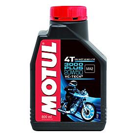 Nhớt Xe Số Motul 3000 Plus 4t 20w50 20x0.8l (800ml)
