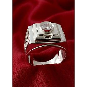 Nhẫn nam phong cách hàn quốc bạc ta cao cấp Bạc QTJ - NA19(BẠC)
