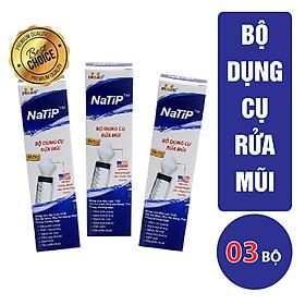 Combo 03 Bộ Dụng Cụ Rửa Mũi NaTiP (Trắng)