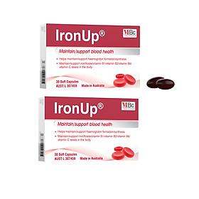 2 Thực phẩm bảo vệ sức khỏe Ironup bổ máu bổ sung sắt