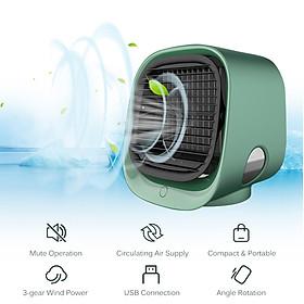 Quạt điều hòa mini để bàn đa chức năng cấp ẩm với bình chứa nước 300ml