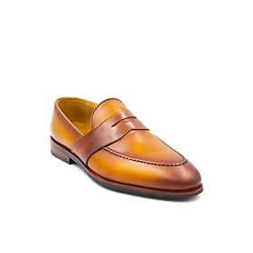Giày Thủ Công Nam Tomoyo Da Bê Pháp Patina Cao Cấp TMN30609