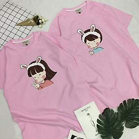 Áo Thun Cặp Nam Nữ Cotton Style Unisex Hình Chibi Cặp Đôi Dễ Thương C2-10