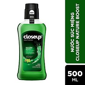 Nước súc miệng CloseUp Nature Boost 500ml