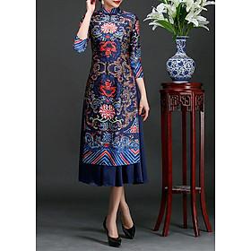 Set áo dài cách tân kèm váy thổ cẩm BY2004