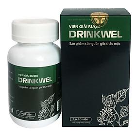 [Lọ 40 viên] Viên giải rượu, giải độc gan, mát gan, giảm tình trạng khô khát khi say, thanh nhiệt, tăng cường chức năng gan. Viên giải rượu Drinkwel.