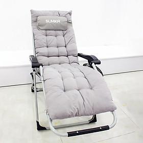 Ghế xếp thư giãn SUMIKA 179M - Tặng kèm nệm, khóa bằng kim loại, vải lưới Textilene thoáng khí, tải trọng 300kg