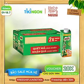 [Chỉ Giao HCM] [Phiên bản Scan mã đổi quà] Thùng 24 hộp sữa lúa mạch Nestlé Milo Teen Protein Canxi (24x210ml)