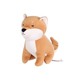 Chó Shiba nhồi bông Miniso dáng ngồi (Nâu) - Hàng chính hãng