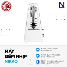 Máy đếm nhịp cao cấp Metronome Nikko - Màu trắng - Hàng chính hãng