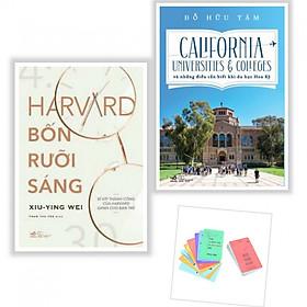 Combo Sách Hay Về Kỹ Năng Sống - Harvard Bốn Rưỡi Sáng + California Universities & Colleges Và Những Điều Cần Biết Khi Du Học Hoa Kỳ - (Tặng Kèm Postcard GreenLife AHA)