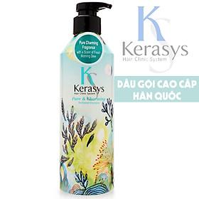 [Tặng kèm móc khoá] Bô dầu gội/xả nước hoa Kerasys Pure & Charming hương quýt và hoa ly Hàn Quốc 600ml-2