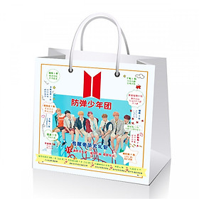 Túi quà BTS tặng hình dán Bangtan sonyeondan A.R.M.Y