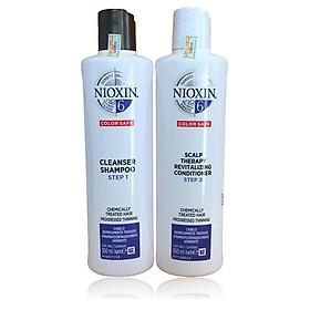 Dầu gội xả Nioxin 6 Chemically Treated Hair Progressed Thinning Cho tóc uốn duỗi tẩy có dấu hiệu thưa rụng Mỹ 300ml-0
