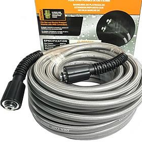 DÂY rửa xe DK 20m dùng cho máy xịt rủa xe mini , dây máy rửa xe gia đình , cuộn dây dùng cho máy rửa áp lực cao hàng chính hãng
