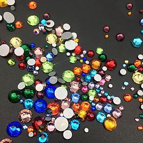 Bịch Hạt đá pha lê trộn Mix size từ SS3-SS20 (Tặng bút chấm đá)