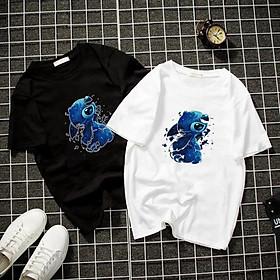 Áo thun Nam Nữ Không cổ STITCH MỘNG MƠ CIMT-0011 mẫu mới cực đẹp, có size bé cho trẻ em / áo thun Anime Manga Unisex Nam Nữ, áo phông thiết kế cổ tròn basic cộc tay thoáng mát