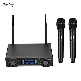 Hệ Thống Micro Không Dây Và Đầu Thu Màn Hình LCD Cho Karaoke Tại Nhà Muslady U2 UHF (2 Micro)