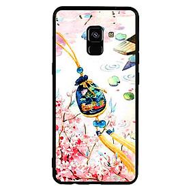 Ốp lưng viền TPU cao cấp cho điện thoại Samsung Galaxy A8 Plus 2018 - Diên Hi Công Lược 03