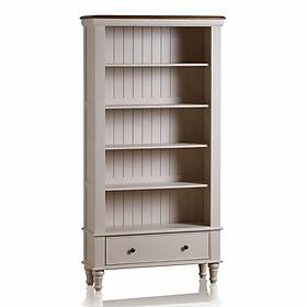 Tủ Sách Cao Shay Gỗ Sồi Ibie OSBTSHAO - Trắng (100 x 35 cm)