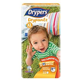 Tã Quần Drypers Drypantz Gói Đại XL32 (32 Miếng)