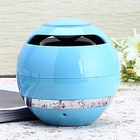 Colorful LED Ball Shaped Card Bluetooth Speaker Subwoofer Call Portable Outdoor Mini Speaker