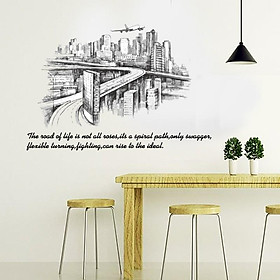 Decal dán tường nghệ thuật con đường The Road of life SK9224
