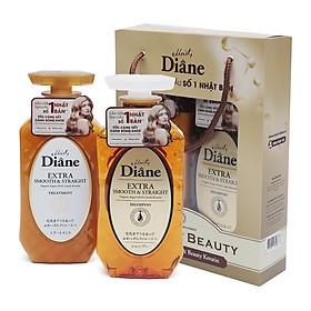 Cặp gội/xả Moist Diane Extra Straight giúp vào nếp, suôn mượt Hàn Quốc (2x450ml) - Dành cho tóc khô,quăn tặng kèm móc khoá-5