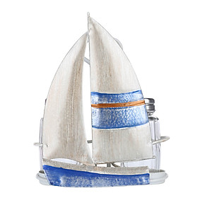 Tooarts Sailing Boat Condiment Rack Sauce and Pepper Bottle Storage Iron Holder Handy Table Organizer Kitchen Decoration