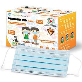 Khẩu Trang Y Tế Kháng Khuẩn Diamond Mask 3 Lớp Siêu Mềm Cho Trẻ Em 3+ Tuổi (Hộp 50 Cái)