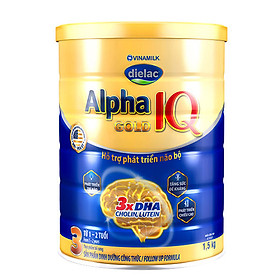 Sữa Bột Vinamilk Dielac Alpha Gold IQ Step 3 Dành Cho Bé Từ 1-2 Tuổi - Hộp Thiếc 1,5kg