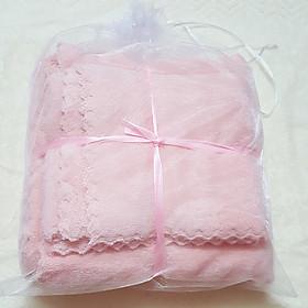 Bộ 2 khăn tắm siêu mềm và thấm nước - KT 70x140cm và 35x75cm - 360g