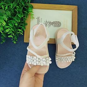 Giày Sandal Bé Gái  Dép Quai Hậu Cho Bé Đế Mềm Chống Trơn Họa Tiết Hoa Đan Dây Chéo Siêu Xinh Size 21 - 30