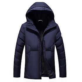 Áo khoác phao nam có mũ thời trang hàn quốc 3 lớp vải cao cấp chống nước không bám bẩn giữ nhiệt mùa đông được nhập bởi công ty Xuân Anh
