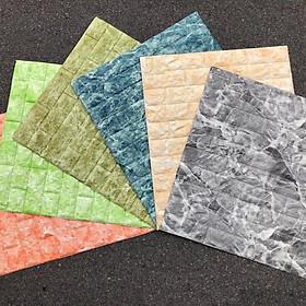 Bộ 10 tấm xốp dán tường giả đá 3D